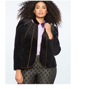 Eloquii Faux Suede Peplum Jacket Size 14